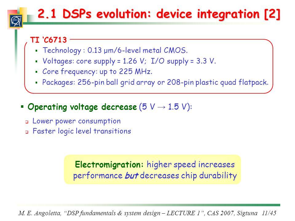 2.1 DSPs evolution: device integration [2]